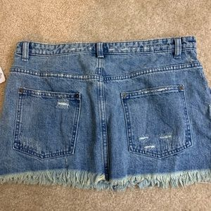 NEW WITH TAGS Free People Denim Mini Skirt
